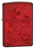 Image Zippo Iced Stars Lighter, Candy Apple Red