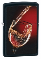 Image Zippo Glass of Wine Lighter, Black Matte