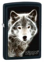 Image Zippo Wolf Ghost Lighter