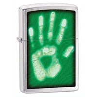 Image Zippo Identity Hand Print Lighter, Brushed Chrome