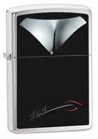 Image Zippo Decolletage Lighter, Brushed Chrome