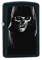 Image Zippo Hooded Reaper Lighter, Black Matte