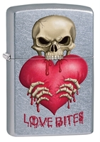 Image Zippo Love Bites Lighter, Street Chrome