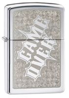 Image Zippo Game Over Lighter, High Polish Chrome