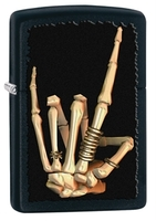 Image Zippo Skeleton Hand Lighter, Black Matte